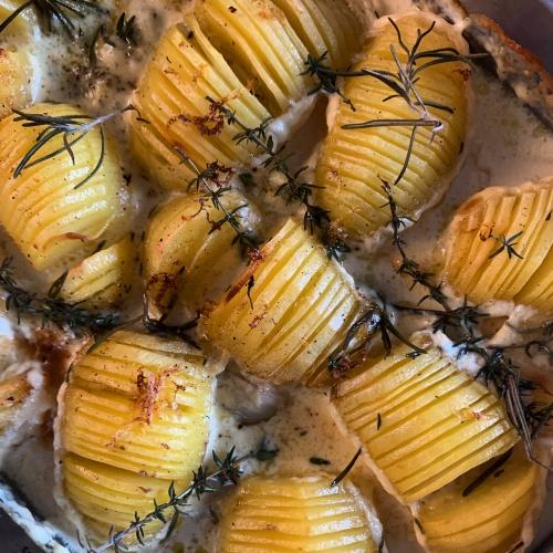 Pommes de terre éventail