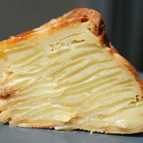 Gateau invisible pommes vanille